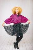 Modeweinlesemädchen Stockfoto