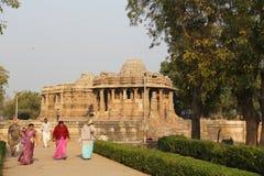 Modhera太阳寺庙复合体 库存照片