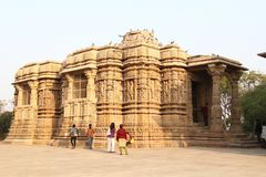 Modhera Sun Temple Stock Photo