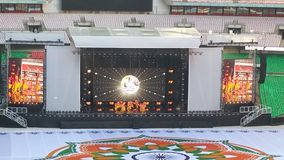 Modi先生在温布利球场 免版税库存照片