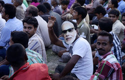 Modi на толпе стоковая фотография