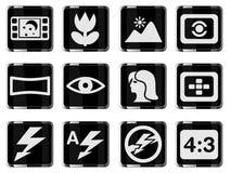 Modi di icone della siluetta della foto Fotografia Stock Libera da Diritti