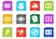 Modi di icone della siluetta della foto Fotografie Stock