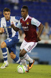 Modibo Maiga of West Ham United. In action during a friendly match against RCD Espanyol at the Estadi Cornella on September 5, 2013 in Barcelona, Spain Stock Photography