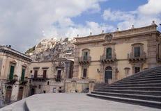 modica西西里岛视域 免版税图库摄影