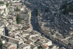 Modica from above ragusa sicily Italy europe Royalty Free Stock Image