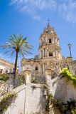 Modica cathedral from below, Sicily Stock Image