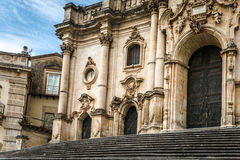 Modica, the cathedral Stock Image