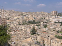 Modica city stock photo