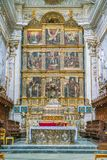Main altar in the Duomo of San Giorgio in Modica, fine example of sicilian baroque art. Sicily, southern Italy. royalty free stock images