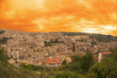 Modica city. Sicily. Modica city on Hyblaean mountainside, Ragusa province, Sicily, Italy Stock Images