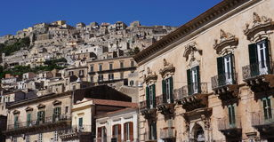 Modica, Sicily, Italy. The historical city center of Modica in Sicily, Italy is a UNESCO world heritage site Stock Image