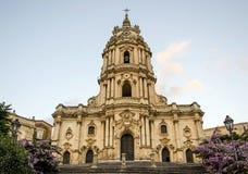Modicakathedraal, Sicilië Stock Foto's
