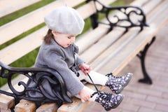 Modieus babymeisje royalty-vrije stock foto's