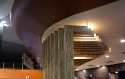 Modieus binnenlands ontwerp van een moderne architecturale de bouwfoto Stock Afbeeldingen