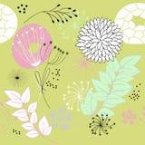 Modieus bloemen naadloos patroon Stock Afbeelding