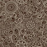 Modieus bloemen naadloos patroon royalty-vrije illustratie
