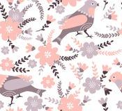 Modieus bloemen naadloos patroon De zomerachtergrond in heldere kleuren Royalty-vrije Stock Afbeeldingen