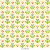Modieus bloemen naadloos patroon Leuke bloemen in pastelkleuren vector illustratie