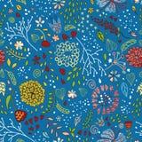 Modieus bloemenpatroon met leuke bloemen Royalty-vrije Illustratie