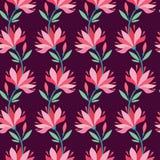 Modieus bloempatroon Royalty-vrije Stock Afbeelding