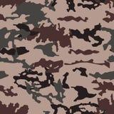 Modieus camouflagepatroon, naadloze vector Millatrydruk de textuur van de kleren, de vermomming van een jager royalty-vrije illustratie