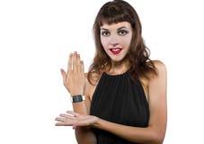 Modieus Generisch Slim Horloge Stock Foto's