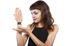 Modieus Generisch Slim Horloge Stock Afbeeldingen