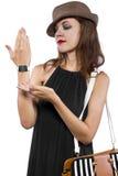 Modieus Generisch Slim Horloge Royalty-vrije Stock Foto
