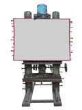 Modieus industrieel stijl adverterend paneel, roestige toestel en bout, Royalty-vrije Stock Foto