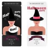 Modieus kaartje aan de partij van Halloween, Stock Fotografie