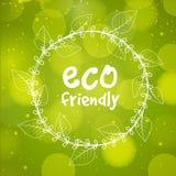Modieus kader voor Vriendschappelijke Eco Stock Foto