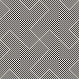Modieus Lijnenrooster Etnische Zwart-wit Textuur Abstract geometrisch Ontwerp als achtergrond Vector Naadloze Zwart-wit Stock Afbeelding