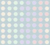 Modieus naadloos patroon van zonnebril met rand van ronde parels Stock Afbeelding