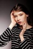 Modieus Nice Jong Volwassen Europees ModelWoman - Voorraadbeeld royalty-vrije stock afbeeldingen