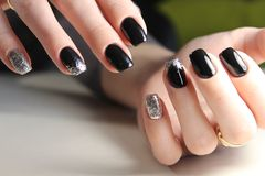 Modieus ontwerp van manicure Royalty-vrije Stock Foto's
