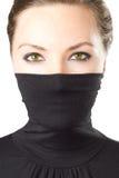 Modieus portret van seksuele vrouw met groene ogen Royalty-vrije Stock Foto's