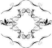 Modieus retro element voor decor royalty-vrije illustratie
