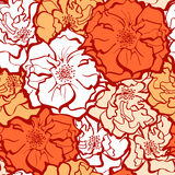 Modieus Rose Flowers-ornament Royalty-vrije Stock Foto's