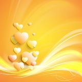 Modieus wit hart Royalty-vrije Stock Foto