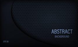 Modieuze abstracte achtergrond in zwart en blauw vector illustratie