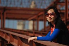 Modieuze Aziatische vrouw Stock Afbeeldingen