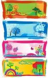 Modieuze banners. Alle seizoenen Royalty-vrije Stock Fotografie