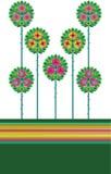 Modieuze bloem stock illustratie