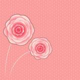 Modieuze Bloemen Vectorillustratie Als achtergrond Royalty-vrije Stock Foto's