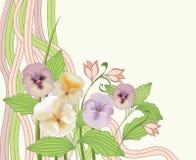 Modieuze bloemenachtergrond Royalty-vrije Stock Foto