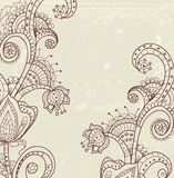 Modieuze bloemenachtergrond Royalty-vrije Stock Afbeelding