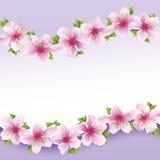Modieuze bloemenachtergrond, groetkaart met stroom Royalty-vrije Stock Fotografie