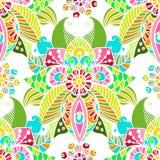 Modieuze bloemenachtergrond, hand getrokken krabbel bloemenelement, overzees vector illustratie