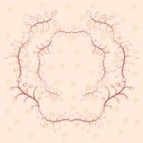 Modieuze bloemenkaart in roze kleuren royalty-vrije illustratie